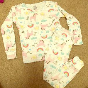 Girls Carters unicorn pajamas